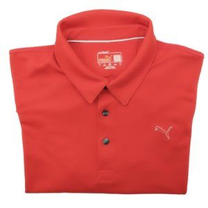 Puma Red Tech Performance Golf Polo Large